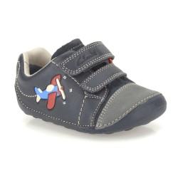 Clarks Tiny Jet Infant Boys Navy Shoe