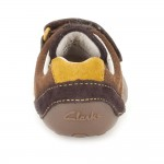 Clarks Tiny Seb Infant Boys Brown Combi Shoe