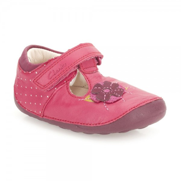 Clarks Little Poppy Infant Girls Berry Shoe