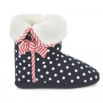 Clarks Sleep Walk Girls Navy Spotty Slipper
