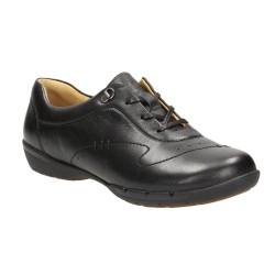 Clarks Un Halsie Womens Black Shoe