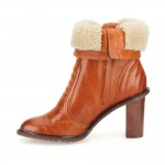 Clarks Lisette Blues Womens Dark Tan Boot