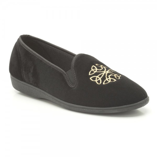 Clarks Marsha Grace Womens Black Slipper