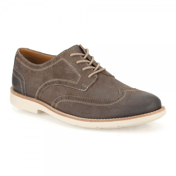 Clarks Raspin Brogue Mens Taupe Shoe