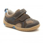 Clarks Ru Rocks Fst Boys Brown Combi Suede Shoe