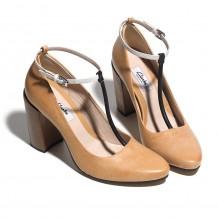 Clarks Crumble Berry Womens Tan Combi Shoe