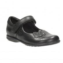 Clarks Trixi Run Inf Girls Black School Shoe