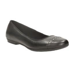 Clarks Tizz Dot Girls Black School Shoe