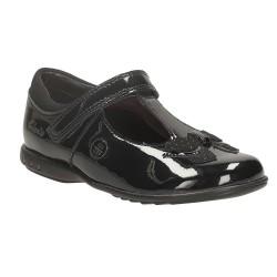 Clarks Trixi Bell Inf Girls Black Patent School Shoe