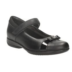 Clarks DaisyLocketInf Girls Black School Shoe