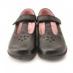 Start-rite Charlotte Girls Black School Shoe