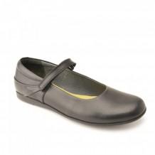 Start-rite Lucy Girls Black Leather Patent School Shoe