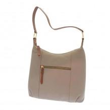 Rowallan Zipped Top Bag in Taupe Leather