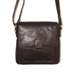 Rowallan Small Cross Body Bag in Brown Leather
