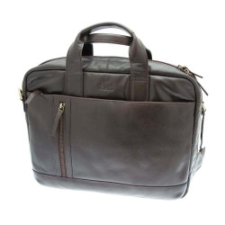 Rowallan Small Twin Handled Briefcase in Brown Leather