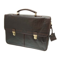 Rowallan Classic Soft Briefcase in Brown Leather