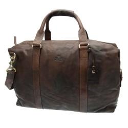 Rowallan Boston Bag Brown Leather Holdall
