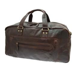 Rowallan Large weekender Brown Leather Holdall