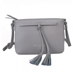 Red Cuckoo 344 Womens Grey Tassel Cross Body Bag