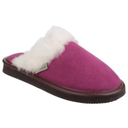 Cotswold Radway Womens Mule Pink Leather Slipper