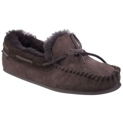 Cotswold Stanway Womens Chocolate Sheepskin Slipper