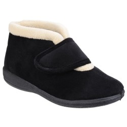 Fleet & Foster Levitt Womens Black Boot Slipper