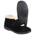 Fleet & Foster Levitt Womens Black Boot Slipper