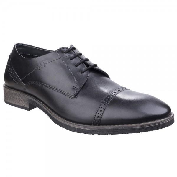 Hush Puppies Craig Luganda Mens Black Shoe