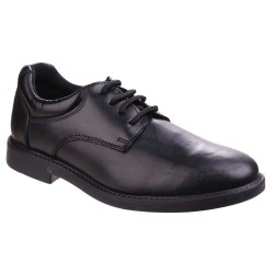 Hush Puppies Tim Boys Black School Shoe