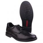 Hush Puppies Tim Boys Black School Shoe
