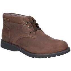 Hush Puppies Beauceron Plain Toe Chukka Dark Brown Boot