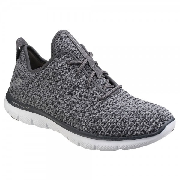 Skechers Flex Appeal 2.0 Bold Move Womens Charcoal Trainer