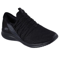 Skechers Ultra Flex Bright Future Womens Black Trainer