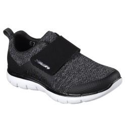 Skechers Flex Appeal 2.0 Step Forward Womens Black Shoe