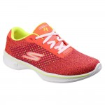 Skechers Go Walk 4 Exceed Womens Pink-Lime Trainer