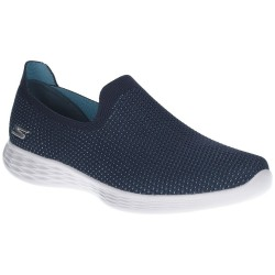 Skechers You Define Womens Navy Shoe