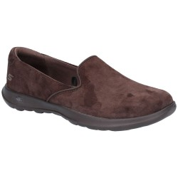 Skechers GoWalk Lite Glam Womens Chocolate Shoe