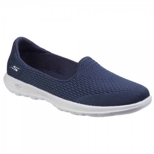 Skechers GOwalk Lite Shanti Womens Navy-Grey Shoe