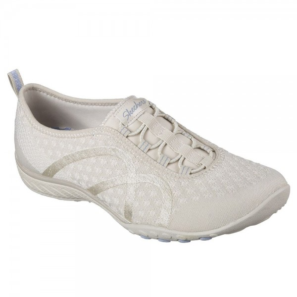 Skechers Breathe Easy Fortune Knit Womens Natural Shoe