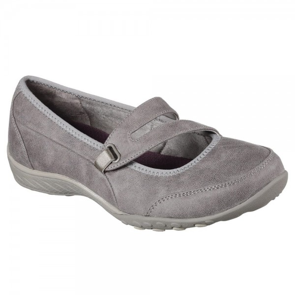 Skechers Breathe Easy Calmly Womens Taupe Shoe