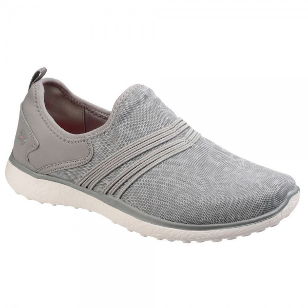 Skechers Microburst Under Wraps Womens Grey Trainer