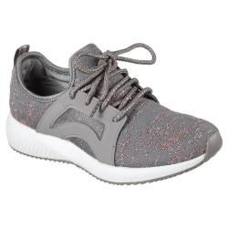Skechers Bobs Sport Squad Glossy Finish Womens Dark Taupe Shoe