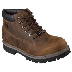 Skechers Sergeants Verdict Mens Dark Brown Boot