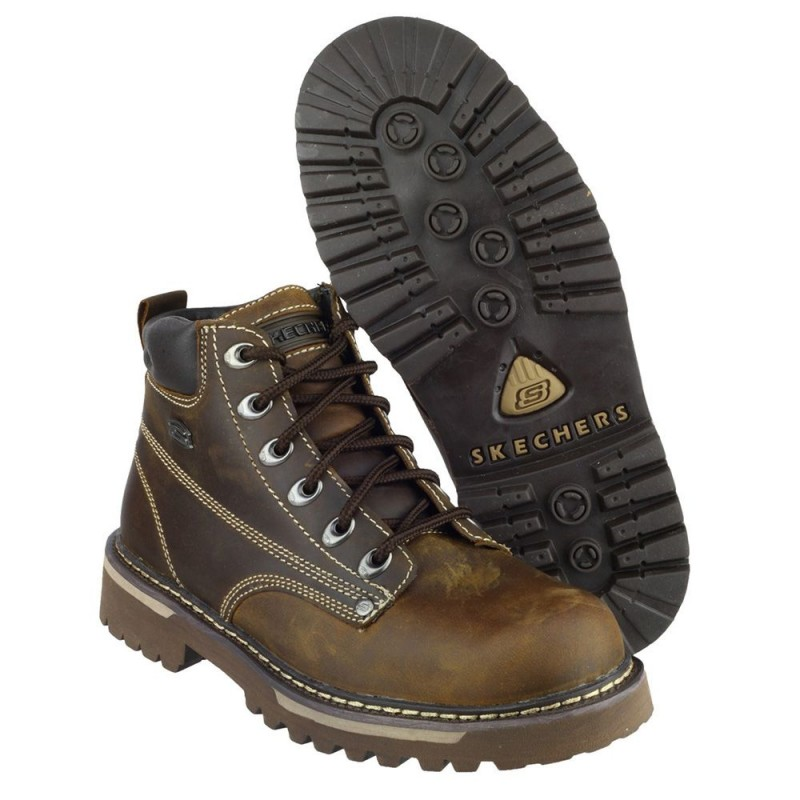 Skechers Cool Cat Bully II Mens Chocolate Dark Brown Boot
