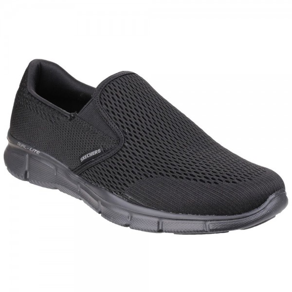 Skechers Equalizer Double Play Mens Black Trainer