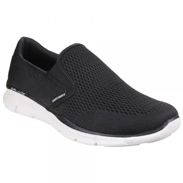 Skechers Equalizer Double Play Mens Black-White Trainer