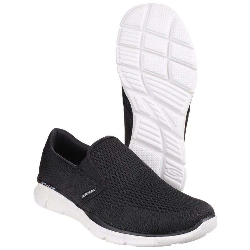 3ffc11e6a391 ... Skechers Equalizer Double Play Mens Black-White Trainer ...