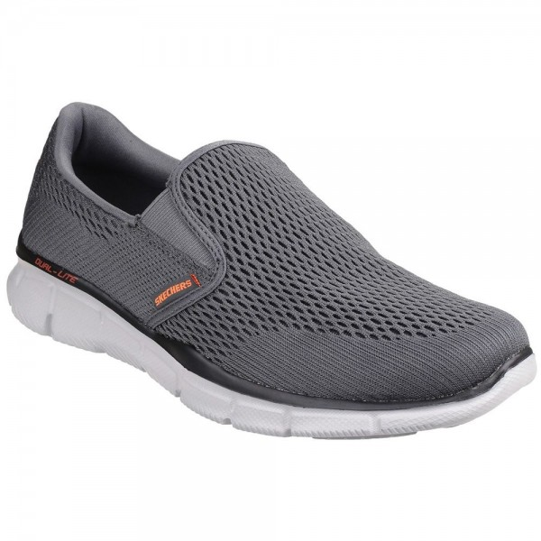 Skechers Equalizer Double Play Mens Grey-Orange Trainer