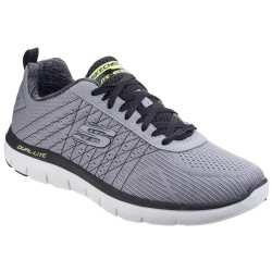 Skechers Flex Advantage 2.0 The Haps Mens Light Grey-Black Trainer