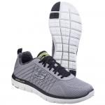 Skechers Flex Advantage 2.0 The Haps Mens Light Grey-Black Trainer